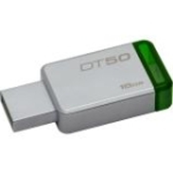 DT50/16GBBK Kingston DataTraveler 50 16GB USB 3.1 Flash Drive (Metal Green)