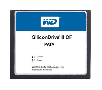 SSD-C12MI-4663 Western Digital SiliconDrive II 128MB ATA/IDE (PATA) CompactFlash (CF) Type I Internal Solid State Drive (SSD) (Industrial Grade)