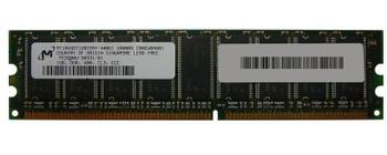MT18VDDT12872AY-40BD1 Micron 1GB PC3200 DDR-400MHz ECC Unbuffered CL3 184-Pin DIMM Memory Module