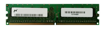 MT16HTF25664AY-40EEZES Micron 2GB PC2-3200 DDR2-400MHz non-ECC Unbuffered CL3 240-Pin DIMM Dual Rank Memory Module