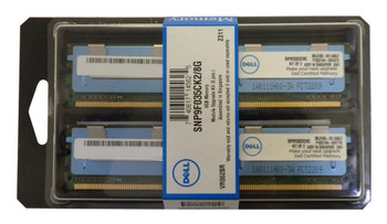 SNP9F035CK2/8GB Dell 8GB Kit (2 X 4GB) PC2-5300 DDR2-667MHz ECC Fully Buffered CL5 240-Pin DIMM Dual Rank for PowerEdge Servers