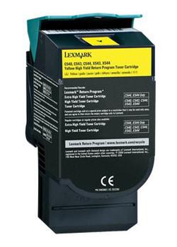 0C540H1YG Lexmark 2000 Pages Yellow Laser Toner Cartridge for C540