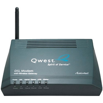 GT701WG Actiontec DSL Modem with Wireless Gateway 1 x WAN 1 x LAN 1 x USB
