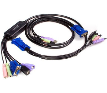 418568-001 HP KVM Cable Kit for TFT7600 Contains a USB Cable a Keyboard Cable and Mouse Cable