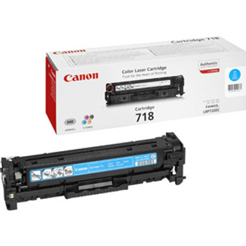 2661B002 Canon 2900 Pages No.718 Cyan Laser Toner Cartridge