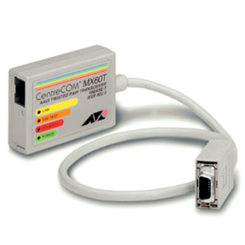 AT-MX60T Allied Telesis CentreCOM MX60T 14-Pins AAUI 10Base-T RJ45 Twisted Pair Micro Transceiver Module