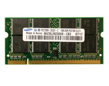 PC2700S-2533-1-Z Samsung 1GB PC2700 DDR-333MHz non-ECC Unbuffered CL2.5 200-Pin SoDimm Memory Module