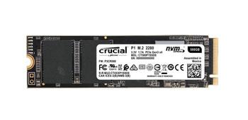 CT500P1SSD8 Crucial P1 Series 500GB QLC PCI Express 3.0 x4 NVMe M.2 2280 Internal Solid State Drive (SSD)