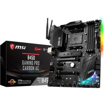B450GPCARBAC MSI B450 GAMING PRO CARBON AC Desktop Motherboard AMD B450 Chipset Socket AM4 (Refurbished)