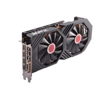 RX-580P8DFD6 XFX Radeon RX 580 Graphic Card 1.37 GHz Core 1.39 GHz Boost Clock 8GB GDDR5 PCI Express 3.0 Dual Slot Space Required
