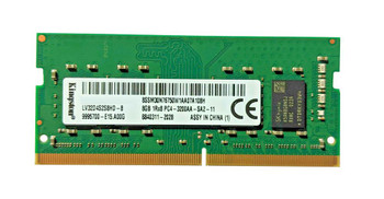 Kingston 8GB PC4-25600 DDR4-3200MHz non-ECC Unbuffered CL22 260-Pin SoDimm 1.2V Single Rank Memory Module Mfr P/N LV32D4S2S8HD-8