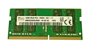 Hynix 16GB PC4-21300 DDR4-2666MHz non-ECC Unbuffered CL19 260-Pin SoDimm 1.2V Dual Rank Memory Module Mfr P/N HMA82GS6DJR8N-VKN0-AC