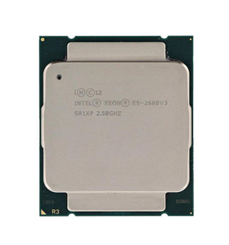 HP Intel Xeon E5-2680 v3 12 Core 2.50GHz 9.60GT/s QPI 30MB L3 Cache Socket FCLGA2011-3 Processor Mfr P/N 726639-B21#0D1