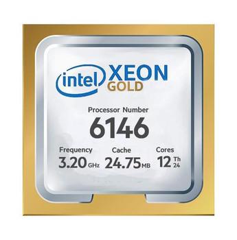 HP 3.20GHz 24.75MB L3 Cache Socket LGA 3647 Intel Xeon Gold 6146 12-Core Processor Upgrade Mfr P/N 2SQ75AV
