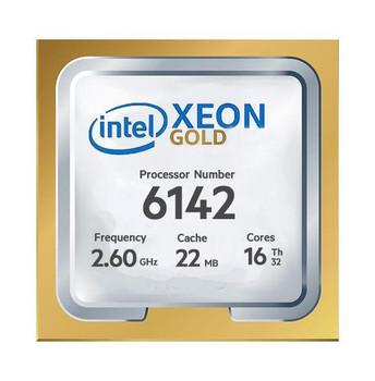 HP 2.60GHz 10.40GT/s UPI 22MB L3 Cache Socket LGA3647 Intel Xeon Gold 6142 16-Core Processor Upgrade Mfr P/N 2DL44AV