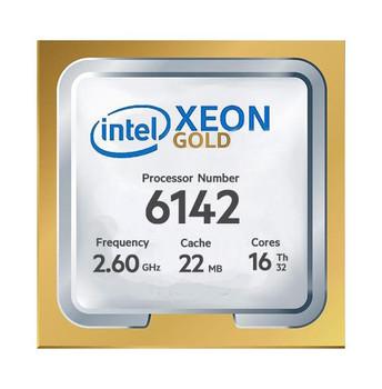 Dell 2.60GHz 10.40GT/s UPI 22MB L3 Cache Socket LGA3647 Intel Xeon Gold 6142 16-Core Processor Upgrade Mfr P/N 338-BLMK