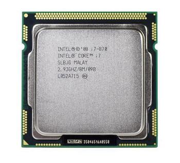 Intel Core i7-870 Quad Core 2.93GHz 2.50GT/s DMI 8MB L3 Cache Socket LGA1156 Desktop Processor Mfr P/N KCX6P