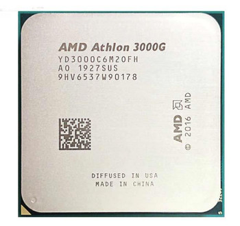 AMD Athlon 3000G Dual-Core 3.50GHz 4MB L3 Cache Socket AM4 Processor Mfr P/N AMDSLA3000G