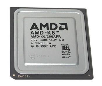 AMD K6 266MHz 66MHz FSB 32KB Cache Socket 7 Processor Mfr P/N AMDSLK6266AFR