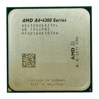 AMD A4-6300 Dual-Core 3.70GHz 1MB L2 Cache Socket FM2 Processor Mfr P/N AMDSLA46300