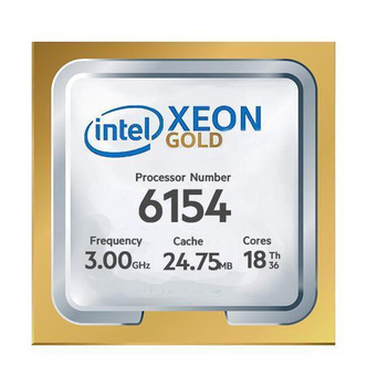 Fujitsu 3.00GHz 24.75MB L3 Cache Socket LGA3647 Intel Xeon Gold 6154 18-Core Processor Upgrade Mfr P/N S26361-F4051-L254