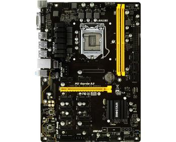 TB250-BTCPRO Biostar Socket LGA 1151 Intel B250 Chipset 7th/6th Generation Core i7 / i5 / i3 / Pentium / Celeron Processors Support DDR4 2x DIMM 6x SATA3 6.0Gb/s ATX Motherboard (Refurbished) TB250-BTC PRO