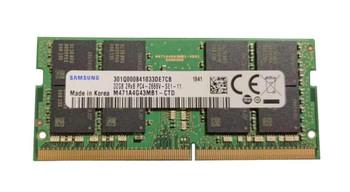 M474A4G43MB1-CTD Samsung 32GB PC4-21300 DDR4-2666MHz ECC Unbuffered CL19 260-Pin SoDimm 1.2V Dual Rank Memory Module