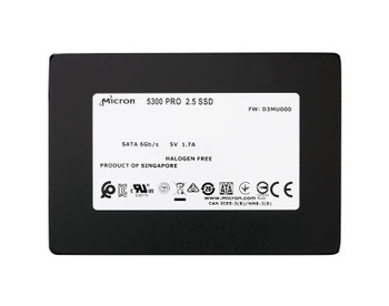 MTFDDAK7T6TDS-1AW1ZABDA Micron 5300 Pro Series 7.68TB TLC SATA 6Gbps 2.5-inch Internal Solid State Drive (SSD)