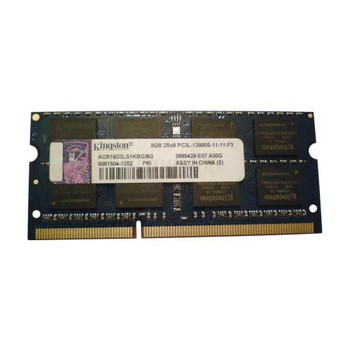 9995428-E07.A00G Kingston 8GB DDR3 SoDimm Non ECC PC3-12800 1600Mhz 2Rx8 Memory