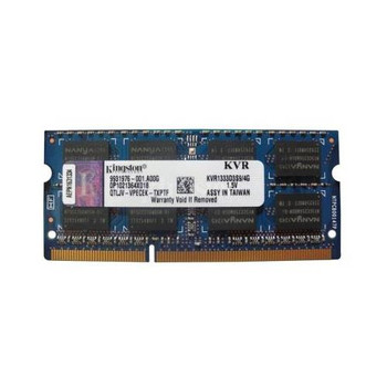 9931976-001.A00G Kingston 4GB DDR3 SoDimm Non ECC PC3-10600 1333Mhz 2Rx8 Memory