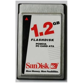 SDP3B-1280-101-50 SanDisk 1.2GB IndustrialType II ATA PCMCIA Flash Memory Card
