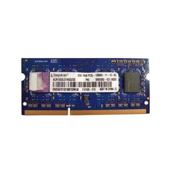 9995582-E01.A00G Kingston 2GB DDR3 SoDimm Non ECC PC3-12800 1600Mhz 1Rx8 Memory