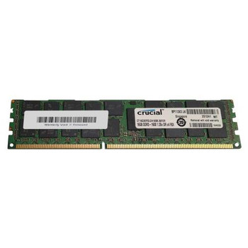 CT16G3ERSLD4160B.36FER Crucial 16GB DDR3 Registered ECC PC3-12800 1600Mhz 2Rx4 Memory