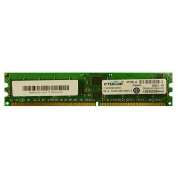 CT12872Y335.18LFF4Y Crucial 1GB DDR Registered ECC PC-2700 333Mhz 1Rx4 Memory