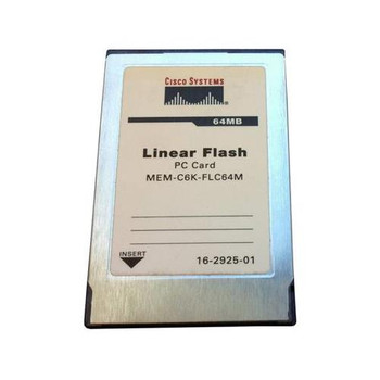 MEM-C6K-FLC64M Cisco 64MB PCMCIA Flash Memory Card for Catalyst 6500