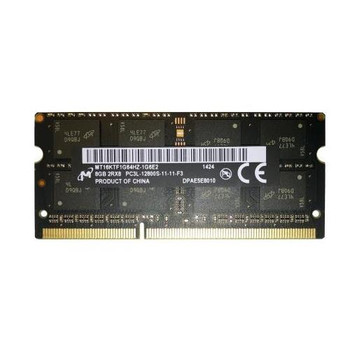 MT16KTF1G64HZ-1G6E2 Micron 8GB DDR3 SoDimm Non ECC PC3-12800 1600Mhz 2Rx8 Memory