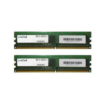 CT2KIT12872AA667 Crucial 2GB (2x1GB) DDR2 ECC PC2-5300 667Mhz Memory