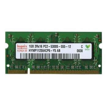 HYMP112S64CP6-Y5 Hynix 1GB DDR2 SoDimm Non ECC PC2-5300 667Mhz Memory
