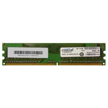 CT12864AA800 Crucial 1GB DDR2 Non ECC PC2-6400 800Mhz Memory