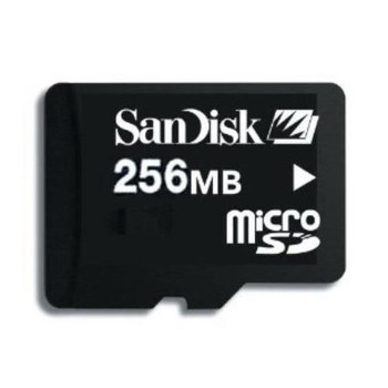 SDSDQ-256 SanDisk 256MB Micro SD Flash Memory Card