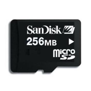 SDSDQ-256 SanDisk 256MB Micro SD Flash Memory Card