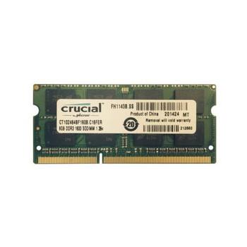 CT102464BF160B Crucial 8GB DDR3 SoDimm Non ECC PC3-12800 1600Mhz 2Rx8 Memory