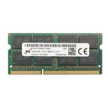 MT16KTF2G64HZ-1G6A1 Micron 16GB DDR3 SoDimm Non ECC PC3-12800 1600Mhz 2Rx8 Memory