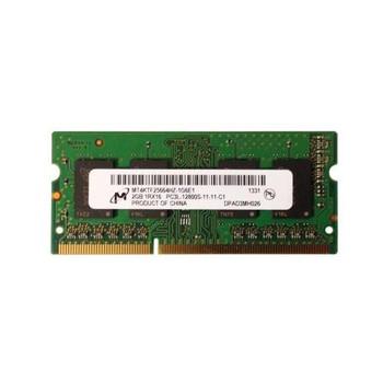 MT4KTF25664HZ-1G6E1 Micron 2GB DDR3 SoDimm Non ECC PC3-12800 1600Mhz 1Rx6 Memory