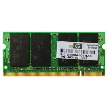 463410-951 HP 4GB DDR2 SoDimm Non ECC PC2-6400 800Mhz Memory