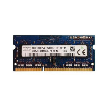 HMT451S6AFR8C-PBN0 Hynix 4GB DDR3 SoDimm Non ECC PC3-12800 1600Mhz 1Rx8 Memory