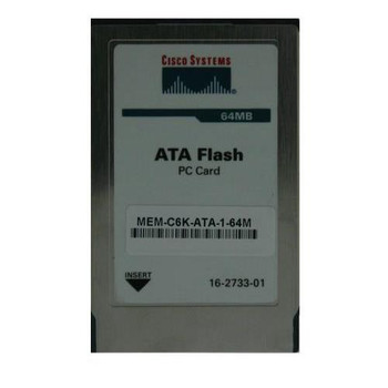 MEM-C6K-ATA-1-64M= Cisco 64MB Flash Memory for Catalyst 6500 Supervisor ATA Type I