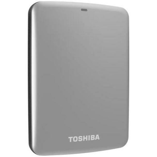 HDTC710VS3A1 Toshiba Canvio Connect 1TB USB 3.0 External Hard Drive (Silver) (Refurbished)