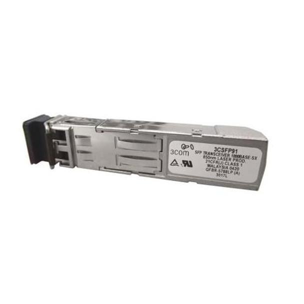 3CSFP91-A1 3Com 1Gbps 1000Base-SX Multi-mode Fiber 500m 850nm Duplex LC Connector SFP Transceiver Module