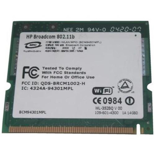 407674-003 HP Mini PCI Broadcom WiFi Bluetooth 802 11a/b/g Wireless LAN  (WLAN) Network Interface Card